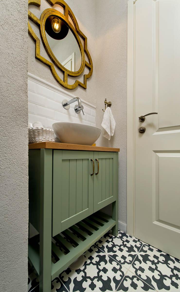 תכנון ועיצוב פנים חדרי אמבטיה ושירותים בדירה ביהוד 3