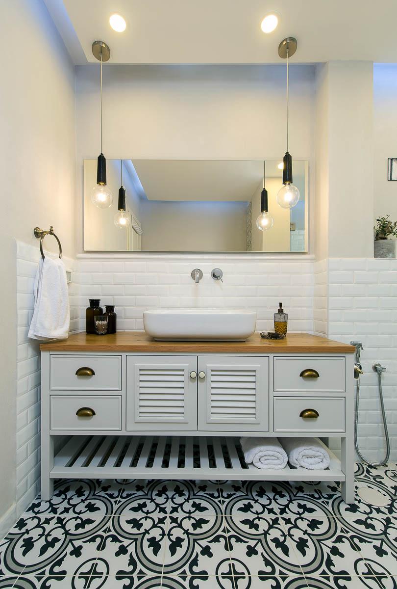 תכנון ועיצוב פנים חדרי אמבטיה ושירותים בדירה ביהוד 2