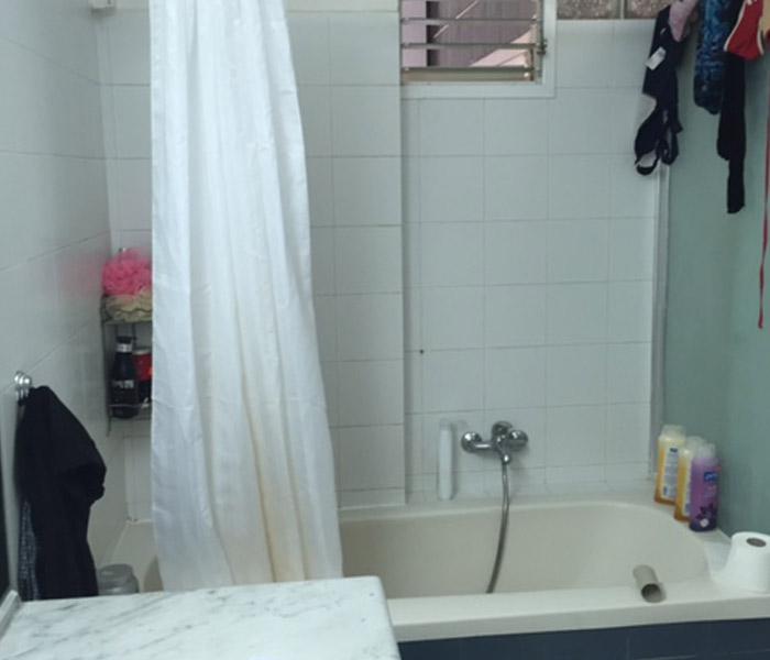 אמבטיה לפני