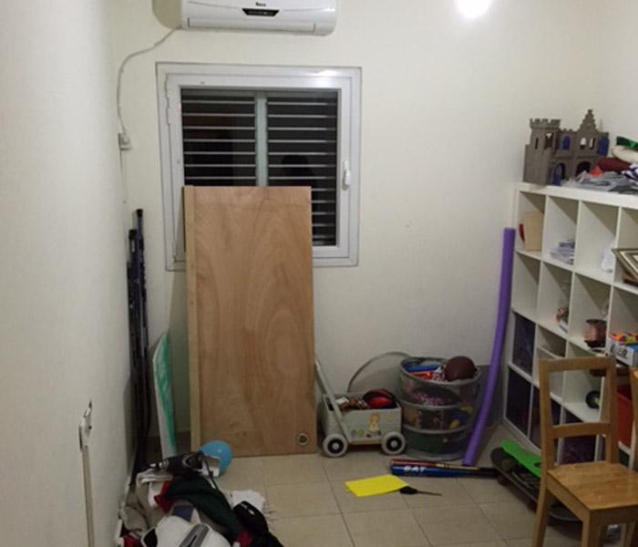 חדר עבודה לפני